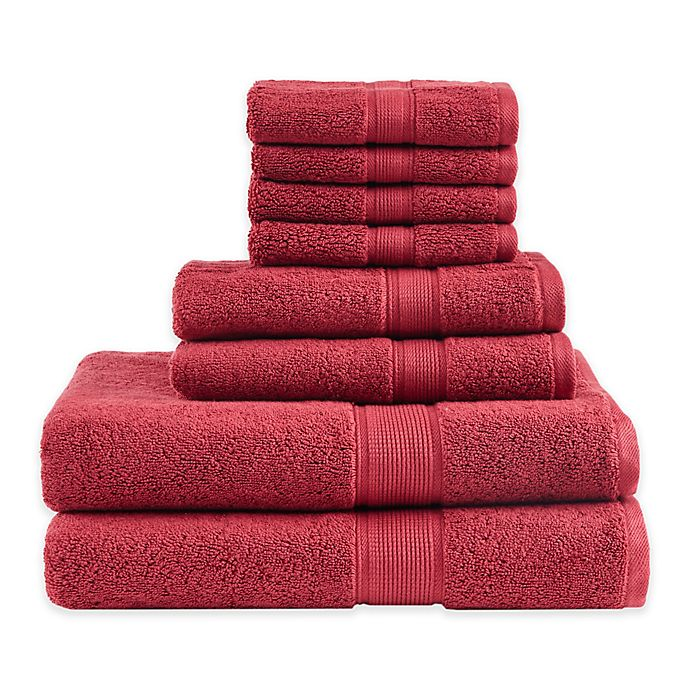 Alternate image 1 for Madison Park Signature 8-Piece 800GSM Towel Set in Red