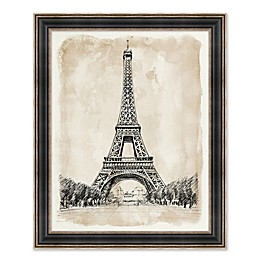Eiffel Tower 26.25-Inch x 32.25-Inch Framed Wall Art