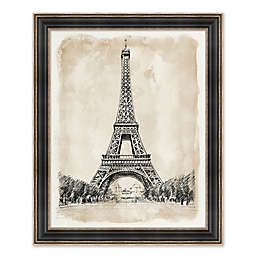 Eiffel Tower 26.25-Inch x 32.25-Inch Framed Wall Art