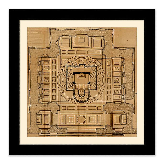 Alternate image 1 for Architectural Plan 1 27.5-Inch Square Framed Wall Art