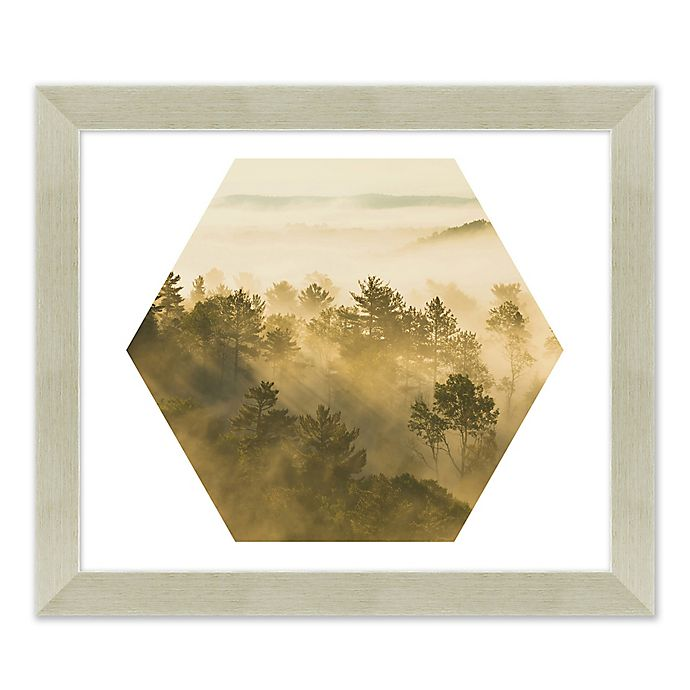 Alternate image 1 for Mountain Forest 27.5-Inch x 23.5-Inch Paper Framed Print Wall Art