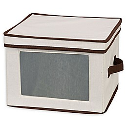 Household Essentials® Dinner Plate Storage Box in Cream
