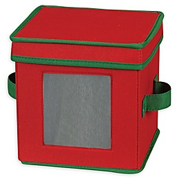 Household Essentials® Holiday Saucer Plate Storage Box in Red/Green
