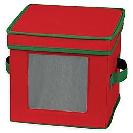Household Essentials® Holiday Dessert Plate Storage Box in Red/Green
