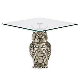Mind Reader Owl Cake Stand in Silver