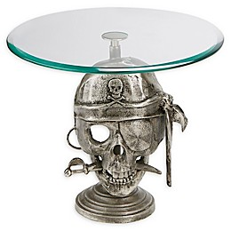 Mind Reader Pirate Pedestal Cake Stand in Silver