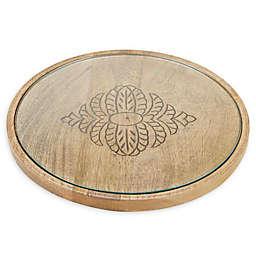 Mind Reader Round Cheese Platter in Brown