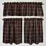 Part of the Durham Square Kitchen Window Curtain Tier Pairs - 100% Cotton