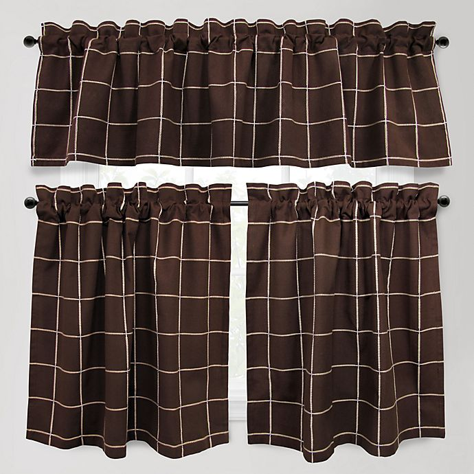 Alternate image 1 for Park B. Smith Durham Square 24-Inch Kitchen Window Curtain Tier Pair in Woodland