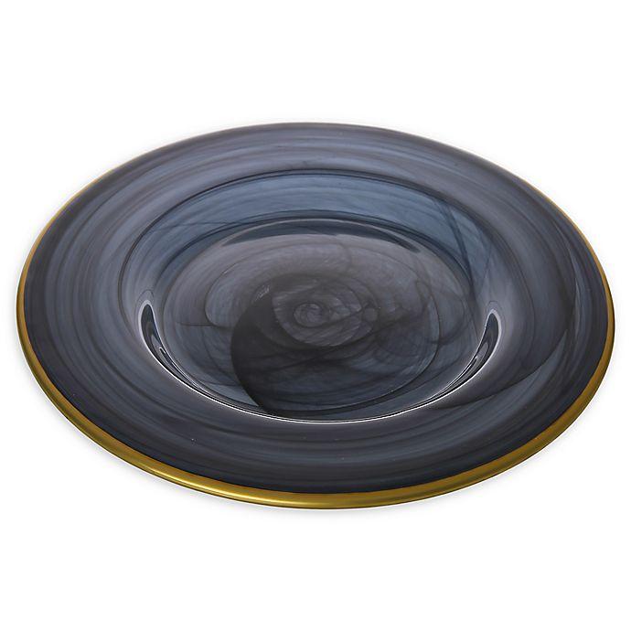 Alternate image 1 for Classic Touch Trophy Alabaster Black Salad Plates (Set of 4)