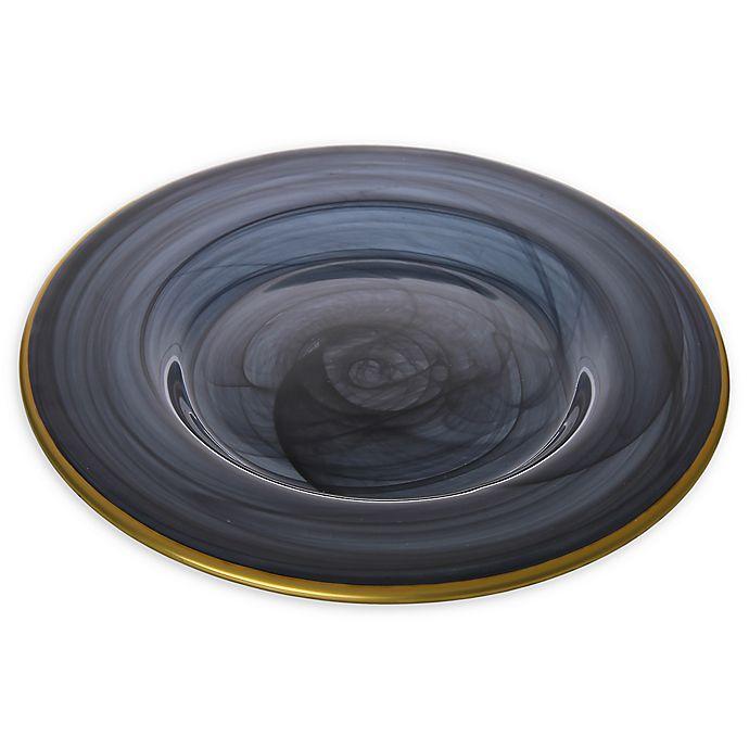 Alternate image 1 for Classic Touch Trophy Alabaster Black Dinner Plates (Set of 4)