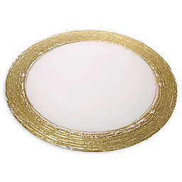 Classic Touch Trophy Charger Plates with Flashy Gold Design (Set of 4)