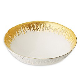 Classic Touch Trophy Soup/Cereal Bowl with Flashy Gold Design