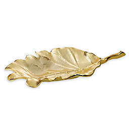 Classic Touch Gold Leaf 10.75-Inch Tray