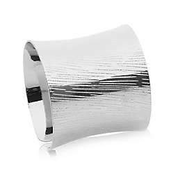 Classic Touch Lined Napkin Rings (Set of 6)