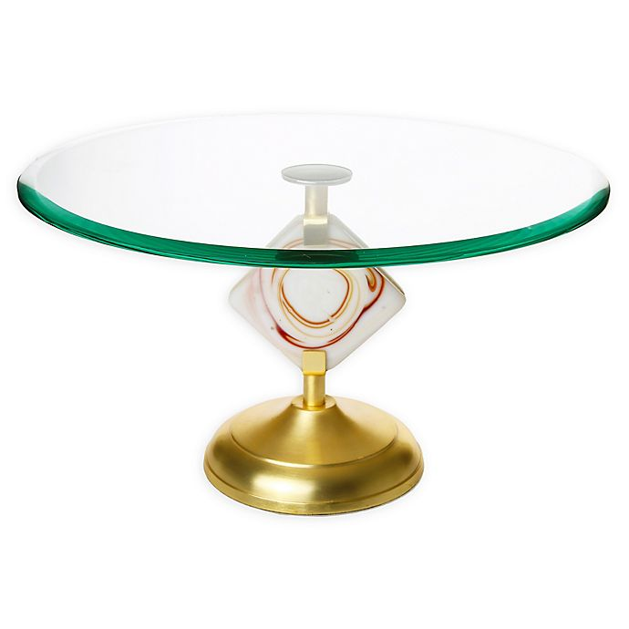 Alternate image 1 for Classic Touch Gem Agate Footed Cake Stand