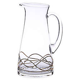Classic Touch Swirl Pitcher in Gold