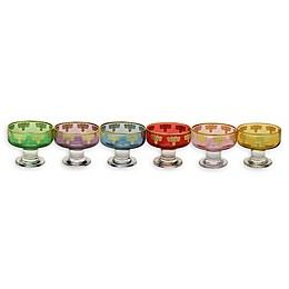 Classic Touch Glim Assorted Dessert Bowls (Set of 6)