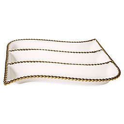 Classic Touch Gold Bead Divded Server