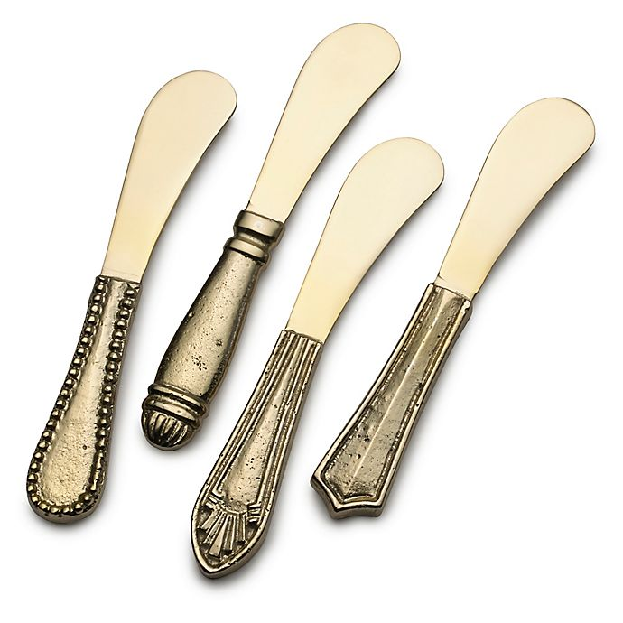 Alternate image 1 for Towle Living® Texture Spreaders in Gold (Set of 4)