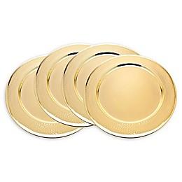 Godinger® Hammered Rim Charger Plates in Gold (Set of 4)