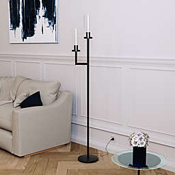 Hudson&Canal® Basso 2-Light Floor Lamp in Black