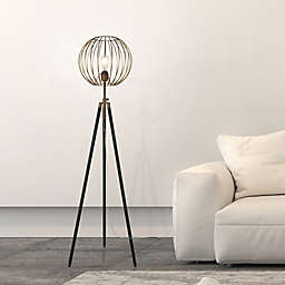 Hudson&Canal® Paramon Floor Lamp in Gold