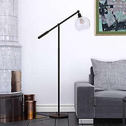 Hudson&canal Dardan Floor Lamp in Black
