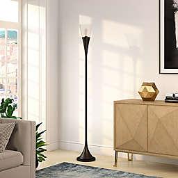 Hudson&canal Moura Floor Lamp in Black