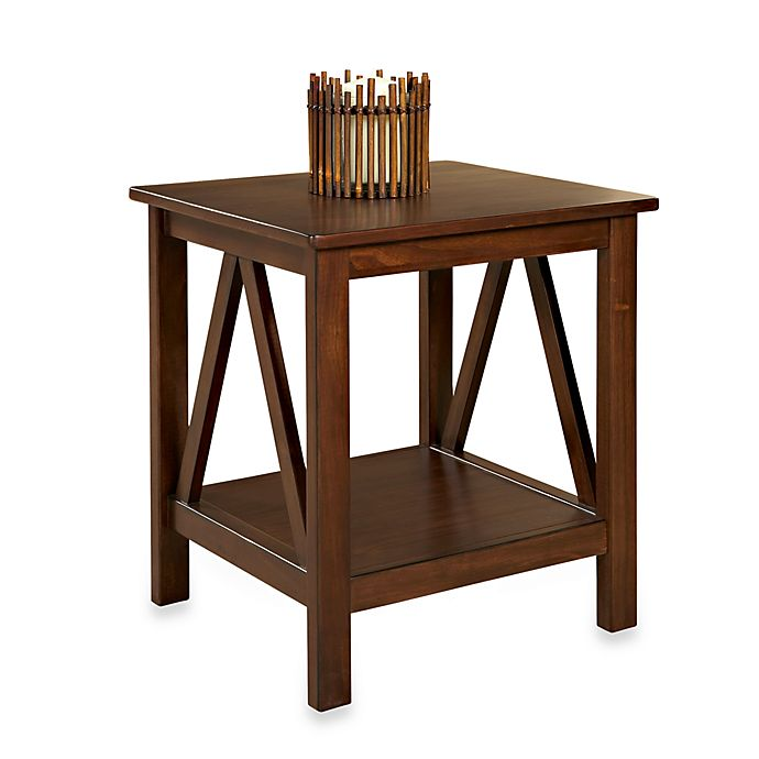 Dylan End Table In Antique Tobacco Bed Bath Beyond