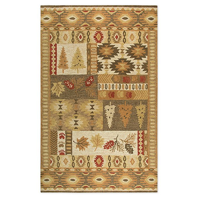 Alternate image 1 for Rizzy Home Nature Patchwork Tufted Rug