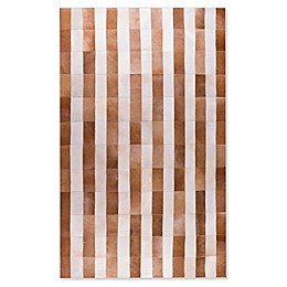 Natural Rugs Natural Stitch Cowhide Stripe Area Rug
