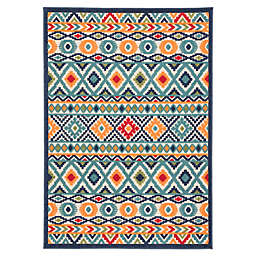Jaipur Geometric Indoor/Outdoor 7'4 x 9'6 Area Rug