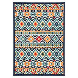 Jaipur Geometric Indoor/Outdoor 7'4 x 9'6 Area Rug