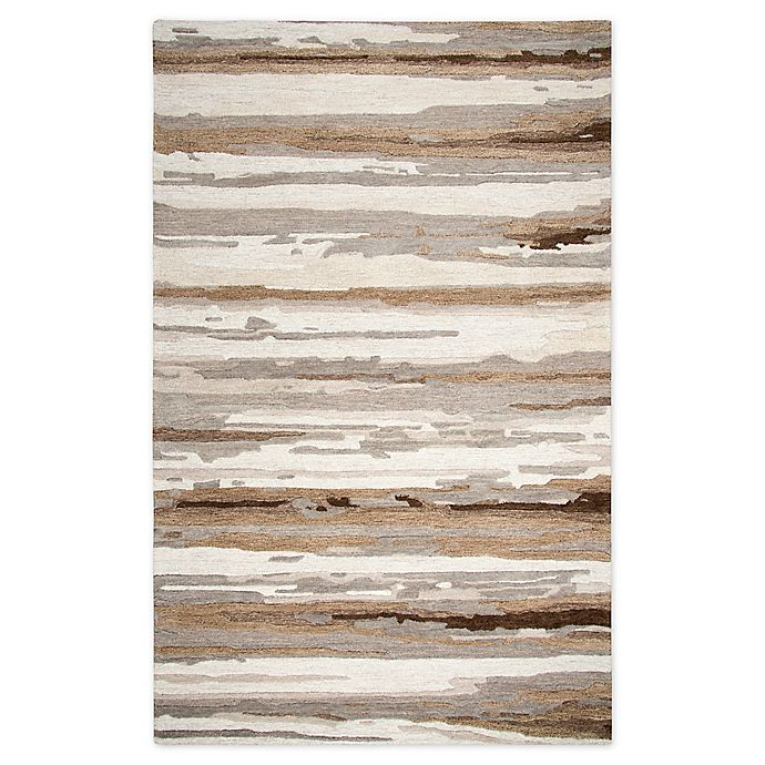 Alternate image 1 for Rizzy Home Abstract Stripes 8' X 10' Tufted Area Rug in Tan