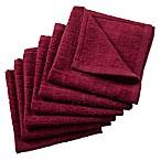 Design Imports 6-Pack Windowpane Dishcloths in Wine