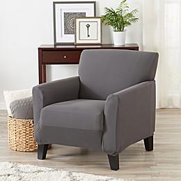 Great Bay Home Seneca Velvet Strapless Chair Slipcover