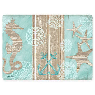 Beach Boardwalk Placemat in Turquoise