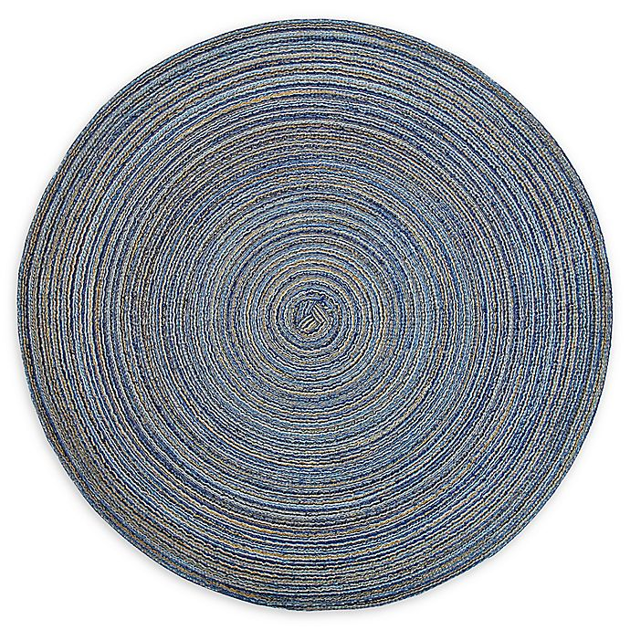 Alternate image 1 for Design Imports Variegated Placemats in Blue (Set of 6)