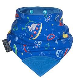 Cheeky Chompers® Neckerchew® Space Rockers 2-in-1 Teething Bandana Bib in Blue