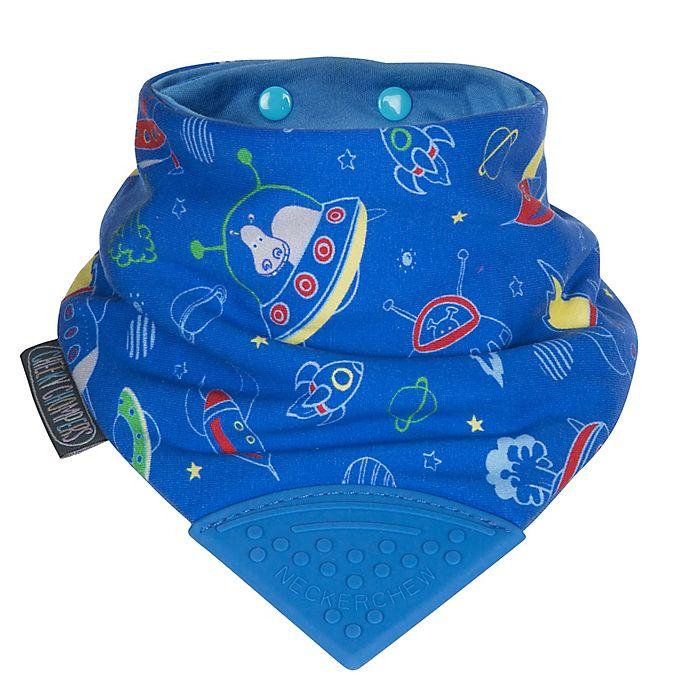 Alternate image 1 for Cheeky Chompers® Neckerchew® Space Rockers 2-in-1 Teething Bandana Bib in Blue