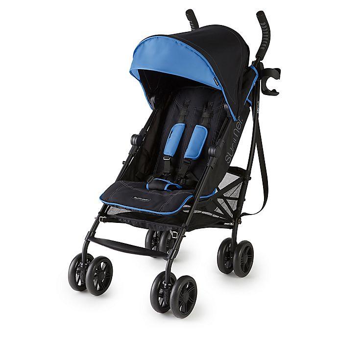 Alternate image 1 for Summer Infant® 3Dlite™+ Convenience Stroller in Blue/Matte Black