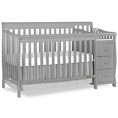 Dream On Me Brody 5-in-1 Convertible Crib and Changer in Pebble Grey