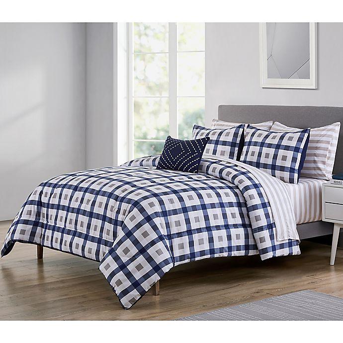 Alternate image 1 for VCNY Home Belmar King Comforter Set in Navy/White