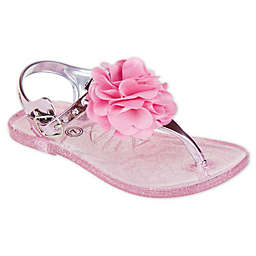 Stepping Stones High Shine Jelly Sandals in Light Pink