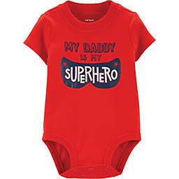 carter's® Superhero Dad Bodysuit in Red