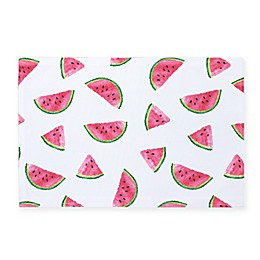 Colordrift Fresh Watermelon Indoor/Outdoor Placemats (Set of 4)