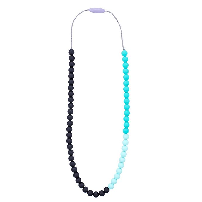 Alternate image 1 for Anjie + Ash Greenwich Silicone Teething Necklace in Mint Chip