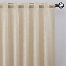 Bargello 84-Inch Rod Pocket/Back Tab Room Darkening Window Curtain Panel in Champagne