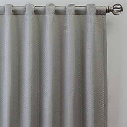 Bargello 84-Inch Rod Pocket/Back Tab Room Darkening Window Curtain Panel in Sky Blue (Single)